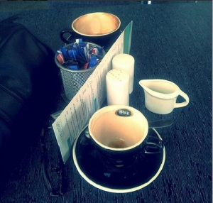17th of Feb - Lunch time coffee date with my love at the veranda cafe at Hamilton Lake.