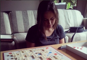 Skip to the 1st of Feb, lazy afternoon playing scrabble with this pretty lady - She won as usual :) haha