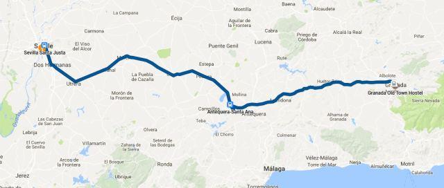 Granada to Seville